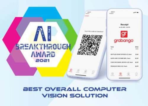 Grabango Recognized as the Best Overall Computer Vision Solution with the 2021 AI Breakthrough Award
